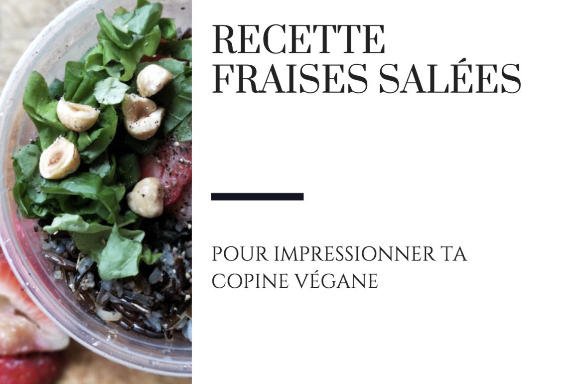 Recette raton reveur salade fraise salée
